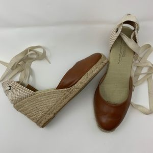 Soludos Women's Lace-Up Espadrille Heels Size 7
